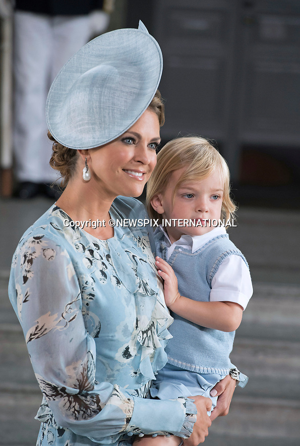 14.07.2017; Stockholm Sweden: PRINCESS MADELEINE, CHRISTOPHER O'NEILL, PRINCESS LEONORE AND PRINS NICOLAS<br /> attend the church service to celebrate Crown Princess Victoria&rsquo;s 40th Birthday at the Royal Chapel in Stockholm<br /> Mandatory Photo Credit: &copy;Francis Dias/NEWSPIX INTERNATIONAL<br /> <br /> IMMEDIATE CONFIRMATION OF USAGE REQUIRED:<br /> Newspix International, 31 Chinnery Hill, Bishop's Stortford, ENGLAND CM23 3PS<br /> Tel:+441279 324672  ; Fax: +441279656877<br /> Mobile:  07775681153<br /> e-mail: info@newspixinternational.co.uk<br /> Usage Implies Acceptance of Our Terms &amp; Conditions<br /> Please refer to usage terms. All Fees Payable To Newspix International