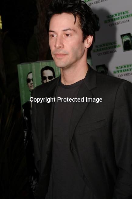 Keanu Reeves<br />DVD Gala Event for the 10/14 worldwide release of &quot;The Matrix Reloaded&quot;  <br />Morton's Restaurant<br />West Hollywood, CA, USA <br />Wednesday, October, 08, 2003<br />Photo By Celebrityvibe.com/Photovibe.com