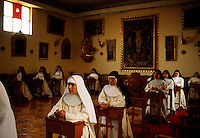 This is the first of seven times a day the nuns go to their chapel for chorus and to pray. Contemplation is the most important thing in their lives. Santa Catalina Convent, the Monasterio de Santa Catalina was built in 1580 and enlarged in the 17th century. Among the 30 cloistered nuns who live in privacy in the convent.