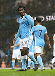 Wilfried Bony of Manchester City celebrates scoring the opening goal - Manchester City vs Swansea - Barclays Premier League - Etihad Stadium - Manchester - 12/12/2015 Pic Philip Oldham/SportImage