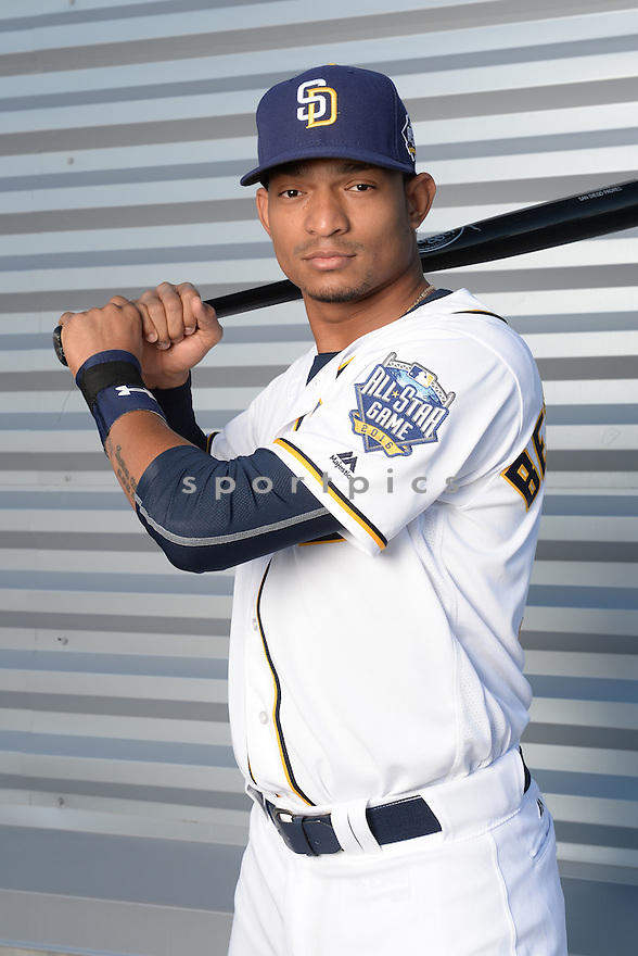 San Diego Padres Christian Bethancourt (12) during photo day on February 26, 2016 in Peoria, AZ.