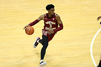 CHAPEL HILL, NC - FEBRUARY 1: Jared Hamilton #3 of Boston College dribbles the ball during a game between Boston College and North Carolina at Dean E. Smith Center on February 1, 2020 in Chapel Hill, North Carolina.