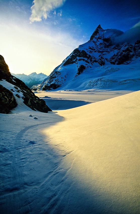 Tiefmatten Glacier and the Matterhorn, Haute Route, Switzerland