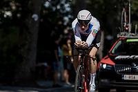 Eventual Stage Winner Stefan K&uuml;ng (SUI/BMC) during his TT.  <br /> <br /> Binckbank Tour 2018 (UCI World Tour)<br /> Stage 2: ITT Venray (NL) 12.7km