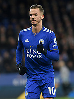 Leicester City's James Maddison<br /> <br /> Photographer Hannah Fountain/CameraSport<br /> <br /> The Premier League - Leicester City v Tottenham Hotspur - Saturday 8th December 2018 - King Power Stadium - Leicester<br /> <br /> World Copyright © 2018 CameraSport. All rights reserved. 43 Linden Ave. Countesthorpe. Leicester. England. LE8 5PG - Tel: +44 (0) 116 277 4147 - admin@camerasport.com - www.camerasport.com