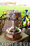 The Bishop Moynihan cup at the Kerry Senior County Football Final in Austin Stack Park, Tralee on Sunday.