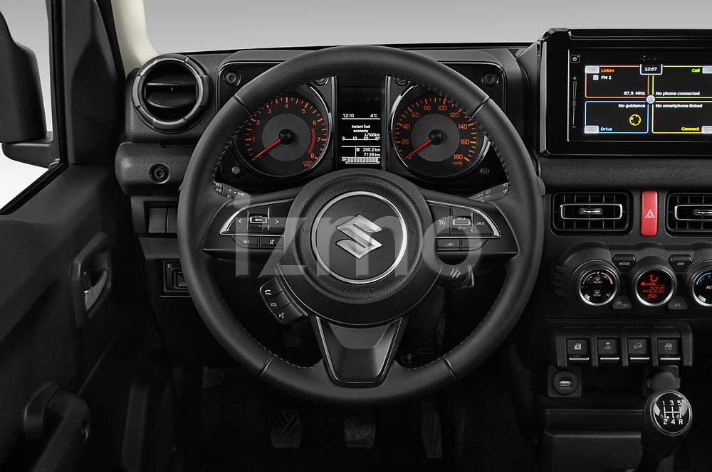 Car pictures of steering wheel view of a 2019 Suzuki Jimny GLX 5 Door SUV Steering Wheel