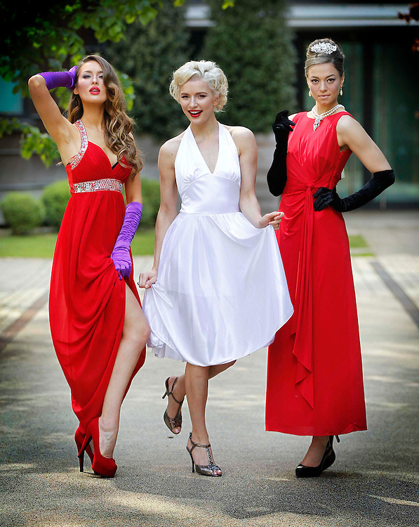 Buy My Dress 2012 Launch..Models, Rozanna Purcell (left) with Teodora Sutra and Irma Mali (right) channel old Hollywood glamour for the Down Syndrome Centre's Buy My Dress 2012 supported by Kellogg's Special K.
