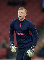 Goalkeeper Bernd Leno of Arsenal pre match during the UEFA Europa League group E match between Arsenal and Vorskla Poltava at the Emirates Stadium, London, England on 20 September 2018. Photo by Andrew Aleks.