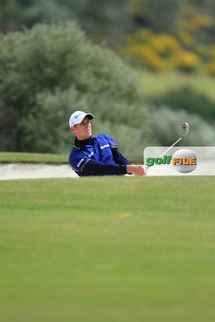 Adrian Otaegui (ESP) during Round 1 of the NH Collection Open at the La Reserva de Sotogrande Club de Golf in Cadiz Spain on Thursday 3rd April 2014<br /> Picture:  Thos Caffrey / www.golffile.ie