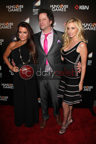 Kyle Richards, Jamie Kennedy, Camille Grammer<br /> at &quot;The Hungover Games&quot; Premiere, TCL Chinese 6, Hollywood, CA 02-11-14<br /> David Edwards/Dailyceleb.com 818-249-4998