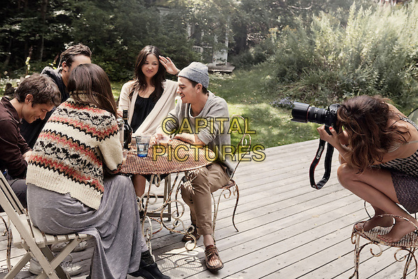HELENA CHRISTENSEN.with Close Friends In Her Home And Garden In Upstate New  York,