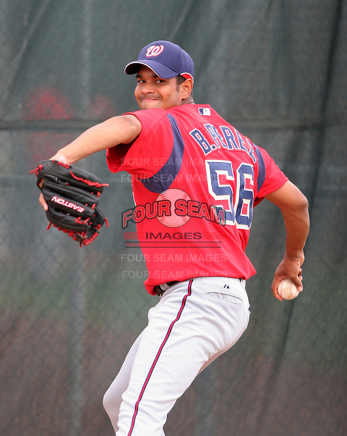 Washington Nationals minor leaguer Beltran Perez during Spring Training at the Carl Barger Training Complex on March 20, 2007 in Melbourne, Florida.  (Mike Janes/Four Seam Images)