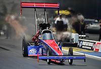 Jun. 16, 2012; Bristol, TN, USA: NHRA top fuel dragster driver Ike Meier during qualifying for the Thunder Valley Nationals at Bristol Dragway. Mandatory Credit: Mark J. Rebilas-