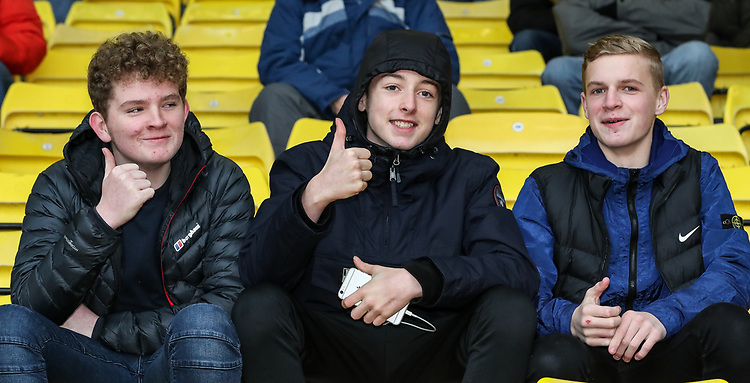 Burnley supporters before the match<br /> <br /> Photographer Andrew Kearns/CameraSport<br /> <br /> The Premier League - Watford v Burnley - Saturday 19 January 2019 - Vicarage Road - Watford<br /> <br /> World Copyright &copy; 2019 CameraSport. All rights reserved. 43 Linden Ave. Countesthorpe. Leicester. England. LE8 5PG - Tel: +44 (0) 116 277 4147 - admin@camerasport.com - www.camerasport.com