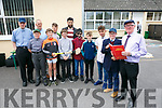 This is your life 6th class pupils act out some famous people as Principal John McAuliffe of LIXNAW Boys School, retires. Pictured l-r Fr. Brick, Darren O Brien, Henry Molyneaux, Micheal Nolan,Darragh Connolly, Christopher O'Sullivan, Cian McMahon, Paul Galvin, Even Kelliher, Kelton Malloy, William McMahon Principal John McAuliffe