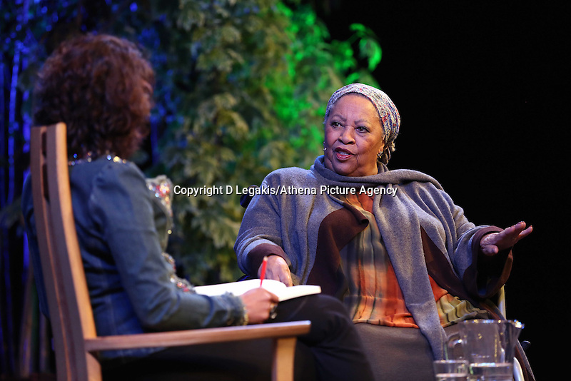 Wednesday 28 May 2014, Hay on Wye, UK<br /> Pictured: American Nobel Laureate Toni Morrison<br /> Re: The Hay Festival, Hay on Wye, Powys, Wales UK.