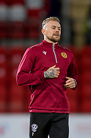12th February 2020; McDairmid Park, Perth, Perth and Kinross, Scotland; Scottish Premiership Football, St Johnstone versus Motherwell; Richard Tait of Motherwell during the warm up before the match