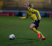 13th February 2020; Deva Stadium, Chester, Cheshire, England; Womens Super League Football, Liverpool Womens versus Arsenal Womens;   Beth Mead of Arsenal Women breaks forward on the ball