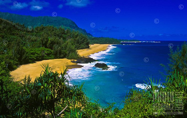 Lumahai beach, near the end of road on the north shore of the island of Kauai