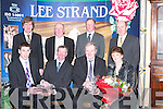 QUALITY: Catherine and John Dalton (Listellick), 2006 Overall Lee Strand Milk Quality awards winners, were presented with a Waterford Crystal Bowl and Vase and a bouquet of flowers by members of the Lee Strand Board of Management at the Brandon Hotel, Tralee, on Friday night at their annual Social. Front: John Murphy (Quality Assurance Manager), John Dalton (award winner), Bill Kennedy (Manager Lee Strand) and Catherine Dalton (award winner). Back l-r: Tim O'Keeffe (Financial Controller), John Daly (Manager of Browne's Agri Steel and Builders Providers, Castleisland), Brendan Walsh (Chairman) and Jerry Dwyer (Production Manager)..
