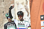 Slovakian National Champion Peter Sagan (SVK) Bora-Hansgrohe at sign on in Fortezza Medicea before the start of the 110th edition of Milan-San Remo 2019 running 291km from Milan to San Remo, Italy. 23rd March 2019.<br /> Picture: LaPresse/Fabio Ferrari | Cyclefile<br /> <br /> <br /> All photos usage must carry mandatory copyright credit (&copy; Cyclefile | LaPresse/Fabio Ferrari)