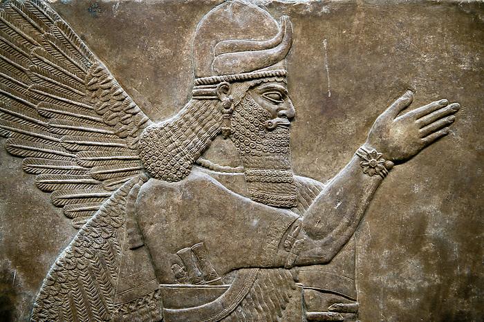 Pictures of nimrud assyrian artefacts antiquities stock