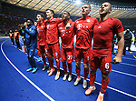 19.01.2020, OLympiastadion, Berlin, GER, DFL, 1.FBL, Hertha BSC VS. Bayern Muenchen, <br /> DFL  regulations prohibit any use of photographs as image sequences and/or quasi-video<br /> im Bild Bayern-Spieler,<br /> Thiago Alcantara (FC Bayern Muenchen #6), Michael Cuisance (FC Bayern Muenchen #11), David Alaba (FC Bayern Muenchen #27), Robert Lewandowski (FC Bayern Muenchen #9), Benjamin Pavard (FC Bayern Muenchen #5)<br /> <br />       <br /> Foto © nordphoto / Engler