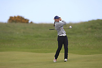 Ebonie Lewis (ENG) on the 18th fairway during Round 3 of the Irish Women's Open Stroke Play Championship 2018 on Sunday 13th May 2018.<br /> Picture:  Thos Caffrey / Golffile<br /> <br /> All photo usage must carry mandatory copyright credit (&copy; Golffile | Thos Caffrey)