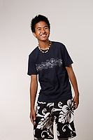 Montreal (Qc) CANADA - August 19 2009 - model released photo - asian (Filipino) male teen in a swimsuit