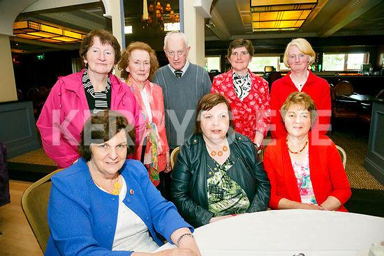 Enjoying the Sliabh Luachra Active Retired Gala Tea Dance at Ballygarry House Hotel & Spa on Monday were front l-r Ann Coffey, Catherine Coffey, Ann Brosnan, Back l-r Bridie Lane, Ann Greaney, Denis Brosnan, Eileen O'Connor, Catherine O'Connor