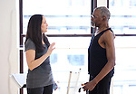 Tamra Hayden & Gus Solomons Jr.at the Actor's Fund Benefit Rehearsal for 'CHESS' on 7/20/2012 in New York City.  ***EXCLUSIVE***