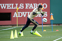 Chelsea F.C training at Busch Stadium, St Louis ahead of the friendly game verus Manchester City..Petr Cech.