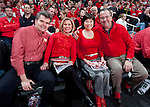 Wisconsin Badgers fans pose for a photo during a Big Ten Conference NCAA college basketball game against the Illinois Fighting Illini on Sunday, March 4, 2012 in Madison, Wisconsin. The Badgers won 70-56. (Photo by David Stluka)