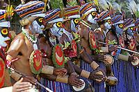 Papua New Guinea, Western Highlands Province, Mt. Hagen Cultural Show, men's troupe
