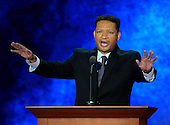 Former United States Representative Artur Davis (Democrat of Alabama) makes remarks to explain why he is joining the GOP at the 2012 Republican National Convention in Tampa Bay, Florida on Tuesday, August 28, 2012.  .Credit: Ron Sachs / CNP.(RESTRICTION: NO New York or New Jersey Newspapers or newspapers within a 75 mile radius of New York City)