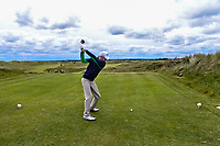 Reece Black (Hilton Templepatrick) on the 14th tee during Round 4 of the East of Ireland Amateur Open Championship at Co. Louth Golf Club in Baltray on Monday 5th June 2017.<br /> Photo: Golffile / Thos Caffrey.<br /> <br /> All photo usage must carry mandatory copyright credit     (&copy; Golffile | Thos Caffrey)