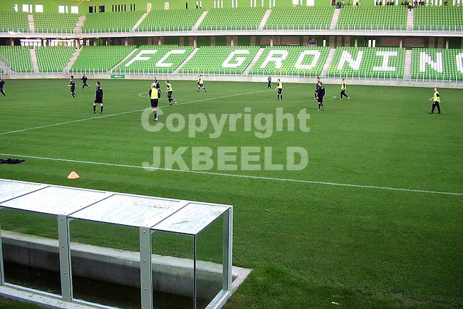 a junioren fc groningen testen grasmat euroborg 8-10-2005