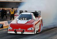 Jul. 26, 2013; Sonoma, CA, USA: NHRA funny car driver Jon Capps during qualifying for the Sonoma Nationals at Sonoma Raceway. Mandatory Credit: Mark J. Rebilas-