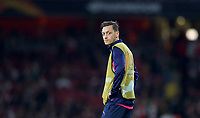 Substitute Mesut Özil of Arsenal during the UEFA Europa League match group between Arsenal and Vorskla Poltava at the Emirates Stadium, London, England on 20 September 2018. Photo by Andrew Aleks / PRiME Media Images.