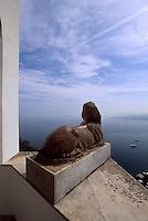 Italien, Capri, Villa San Michele in Anacapri, Wohnhaus von Axel Munthe, ägyptische Sphinx
