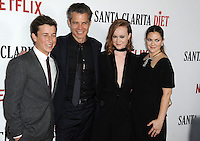 www.acepixs.com<br /> <br /> February 1 2017, LA<br /> <br /> Skyler Gisondo, Tomothy Olyphant , Liv Hewson and Drew Barrymore arriving at the premiere Of Netflix's 'Santa Clarita Diet' at the ArcLight Cinemas Cinerama Dome on February 1, 2017 in Hollywood, California<br /> <br /> By Line: Peter West/ACE Pictures<br /> <br /> <br /> ACE Pictures Inc<br /> Tel: 6467670430<br /> Email: info@acepixs.com<br /> www.acepixs.com