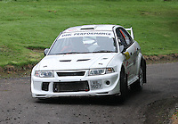 Alistairr Inglis / Colin Inglis near Junction 10 on the Gleaner Oil & Gas Cooper Park Special Stage 1 of the Gleaner Oil & Gas Speyside Stages Rally 2012, Round 6 of the RAC MSA Scotish Rally Championship which was organised by The 63 Car Club (Elgin) Ltd and based in Elgin on 4.8.12..........