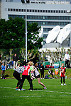 FRANKFURT AM MAIN, GERMANY - Mai 25: Jugendturnier der U16/U19 (Maedchen und Jungen) der Suedliga am 25. Mai, 2013 auf dem Sportgelaende des SC Frankfurt 1880 in Frankfurt am Main. (Photo by Dirk Markgraf/www.265-images.com)