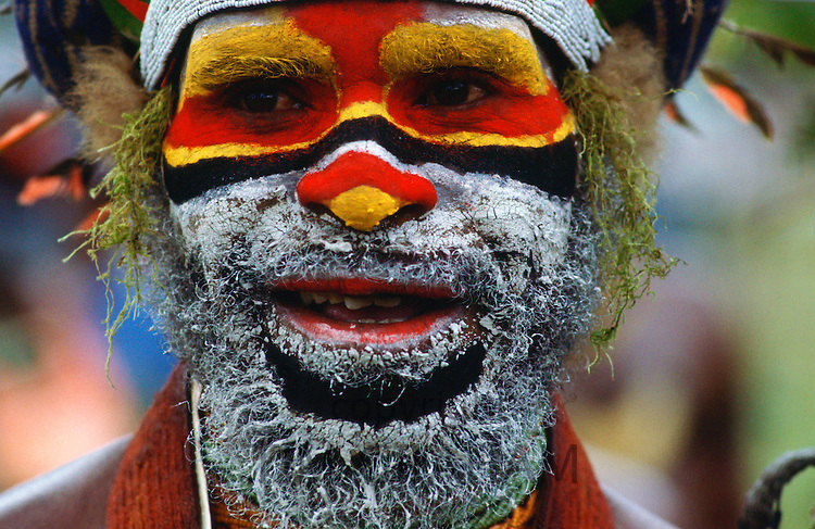 Traditional face painting, Papua New Guinea