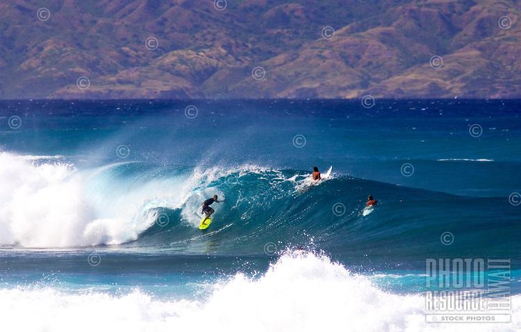 Perfect conditions on Maui's north shore.