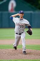 San Antonio Missions relief pitcher Charles Nading (33) delivers a pitch during a game against the Springfield Cardinals on June 4, 2017 at Hammons Field in Springfield, Missouri.  San Antonio defeated Springfield 6-1.  (Mike Janes/Four Seam Images)