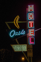 The Oasis Motel on Route 66 in Tulsa Oklahoma.