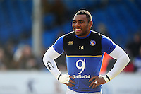 Semesa Rokoduguni of Bath Rugby looks on during the pre-match warm-up. Aviva Premiership match, between Exeter Chiefs and Bath Rugby on February 28, 2016 at Sandy Park in Exeter, England. Photo by: Patrick Khachfe / Onside Images