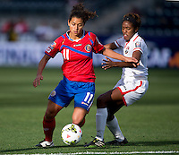 Chester, PA - October 24, 2014: Costa Rica defeated Trinidad & Tobago on penalty kicks 3-0 following overtime during the semifinals of the CONCACAF Women's Championship at PPL Park.